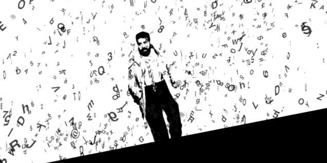 Imagen promocional de la obra Pàgina Negra