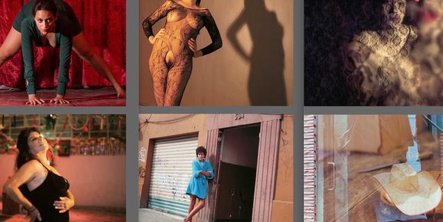 Sis de les imatges de dones o relacionades amb l'imaginari femení que formen part de l'exposició