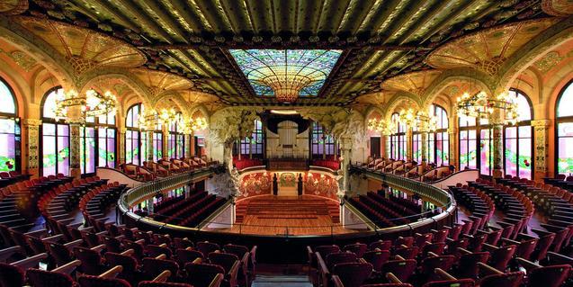 Panoràmica de la sala de concerts.