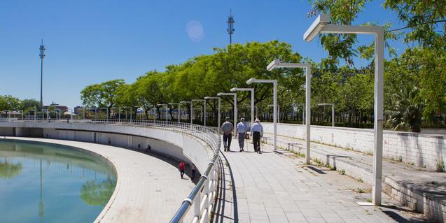 Parc de la Tirnitat on s'exposarà el resultat dels tallers