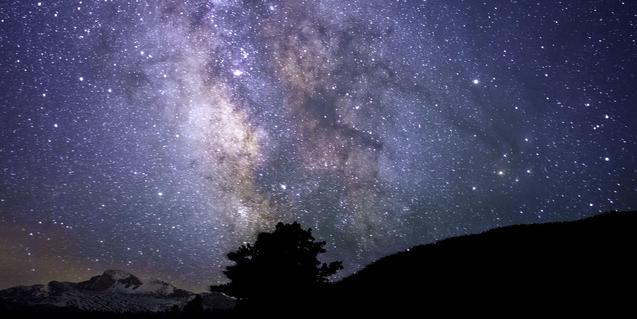 Fotografía de un cielo estrellado