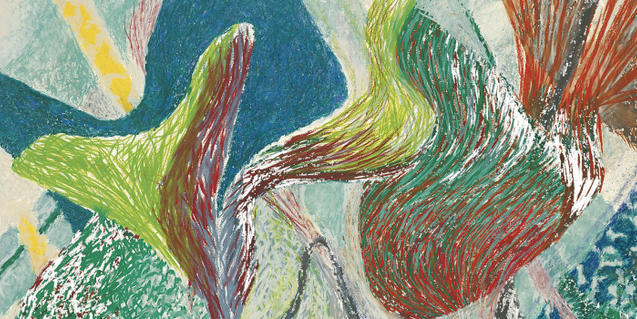 Una de les obres de Vélez que es mostren a la Fundació