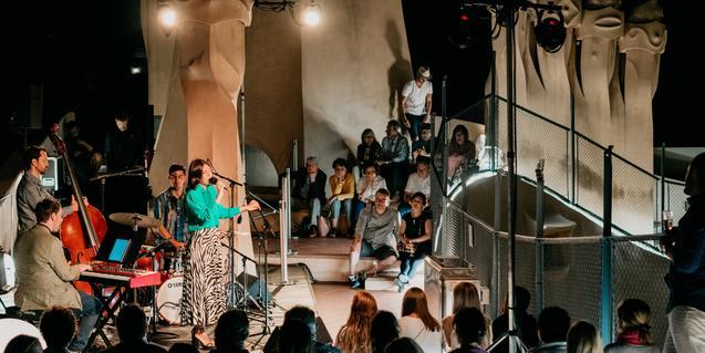 A concert at the Casa Milà's rooftop