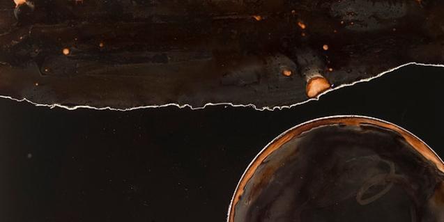 Una de les imatges abstractes que es poden veure a l'exposició