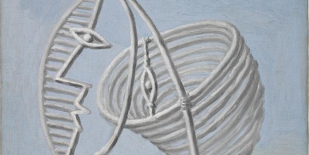 Detalle de una de las obras que forma parte de la exposición 'Picasso poeta'