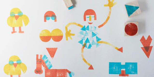 Dibuix fet amb els tampons de Pin Tam Pon