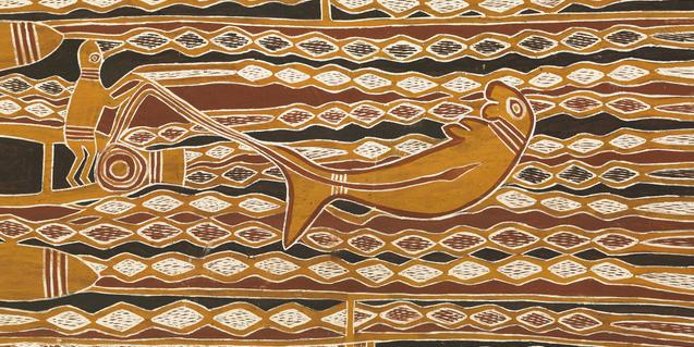 El Museu Etnològic i de Cultures del Món dedicarà una exposició a la pintura aborigen australiana sobre escorça. © Jordi Puig
