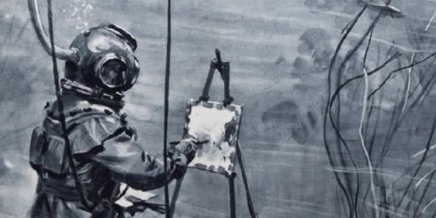 Uno de los elementos de la muestra 'Pintura subacuática' que se pueden ver en el MMB
