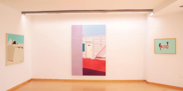 Una imagen del interior de la galería de este centro de arte del barrio de La Pau