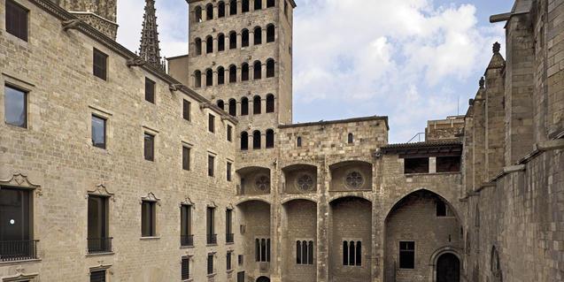 Plaça del Rei, al barri Gòtic