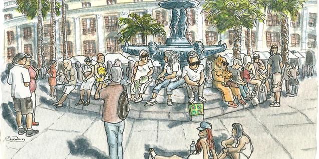 La plaça dibuixa