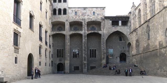 La plaza del Rey de Barcelona, punto de salida del itinerario