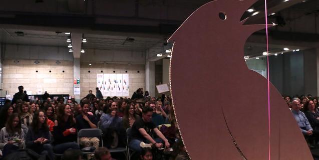Una imatge del públic que assistia a una de les últimes sessions del Poetry Slam