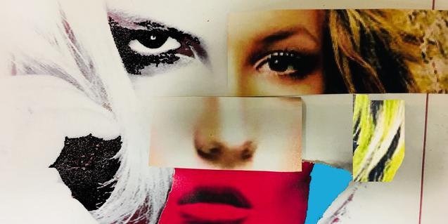 Cartell de l'espectacle elaborat a partir d'un collage amb les cares de diverses dives del pop