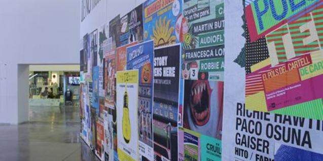 Polster. El pols del cartell de carrer, exposición en el Disseny Hub