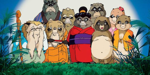 La família de tanukis de la pel·lícula