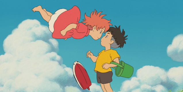 Fotograma de la película con los dos protagonistas a punto de besarse