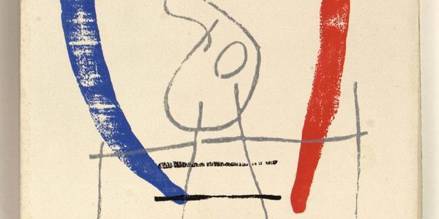 Miró ilustró un libro a partir de los versos de Éluard