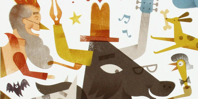Il·lustració de la portada del llibre de l'Andreu Galan: Qui no sap riure no sap viure