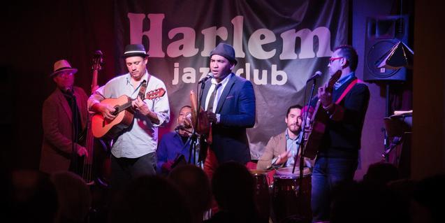 La banda en plena actuación en el Harlem Jazz Club