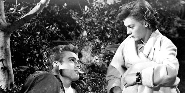 James Dean y Natalie Wood en 'Rebelde sin causa'