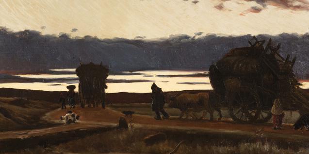 'Recança', pintura de Joaquim Vayreda