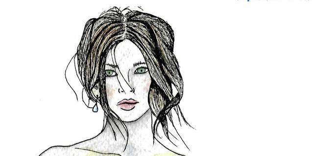 El dibujo de una cabeza femenina es una de las obras que se pueden ver en la exposición