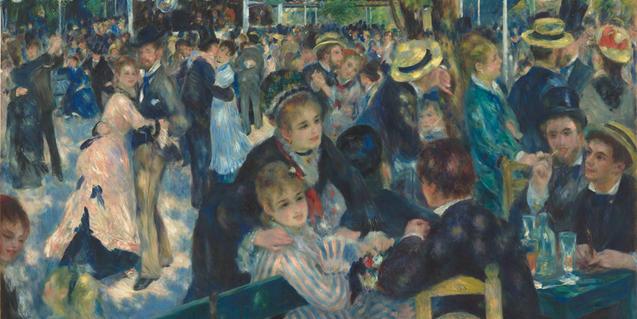 En la exposición se podrán ver obras como 'Bal du Moulin de la Galette'