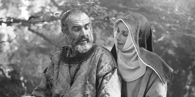 Audrey Hepburn con Sean Connery en 'Robin y Marian'
