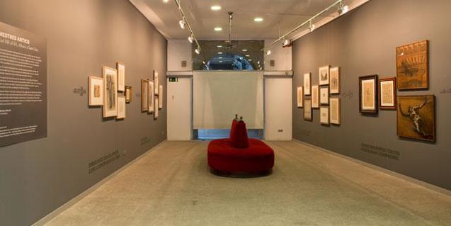 Una imatge de la sala d'exposicions de Sant Lluc