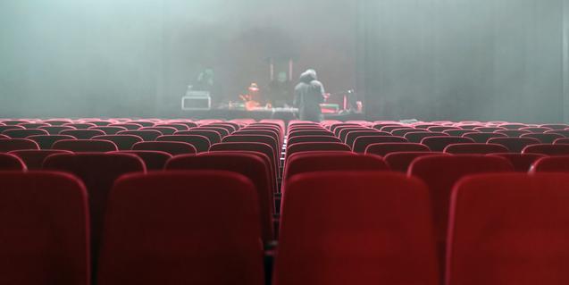 Una sala de espectáculos vacía, antes de su apertura