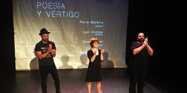 Salva Soler y sus compañeros de espectáculo durante la actuación