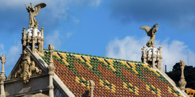 Detall del Recinte Modernista de Sant Pau