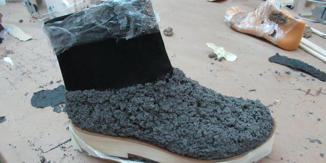 Un dels projectes artístics en forma de calçat que elabora Sara de Ubieta