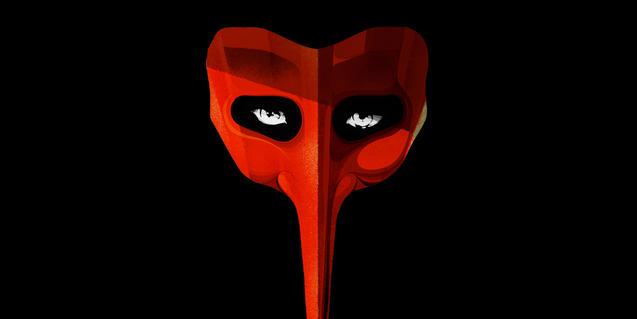 La màscara d'Scaramouche, l'herou del musical