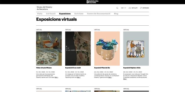Exposicions virtuals al web del Museu del Disseny