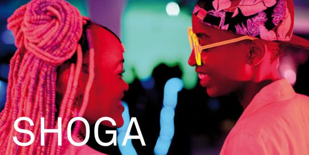 """Cartell de """"SHOGA. Cicle de cinema LGTBI africà"""""""