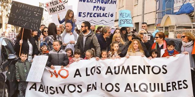 Protesta pel dret a l'habitatge