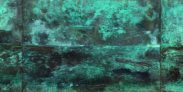 'Snowing in the desert', una de les obres de Riera i Aragó que es poden veure a la galeria