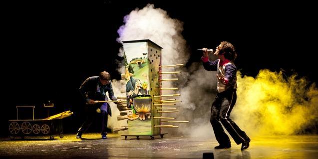Fotografía del espectáculo de magia