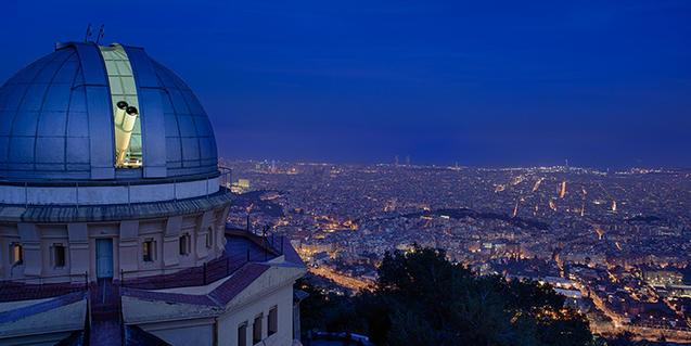 L'Observatori Fabra amb la ciutat als peus