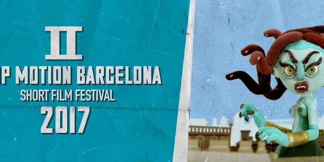 Cartell que anuncia la segona edició de l'Stop Motion Barcelona