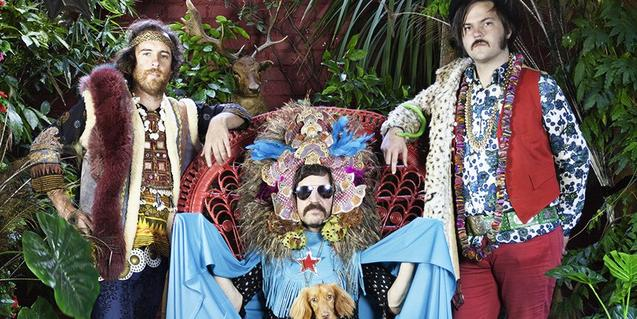 Els integrants de la banda australiana d'indie rock, amb unes disfresses extravagants