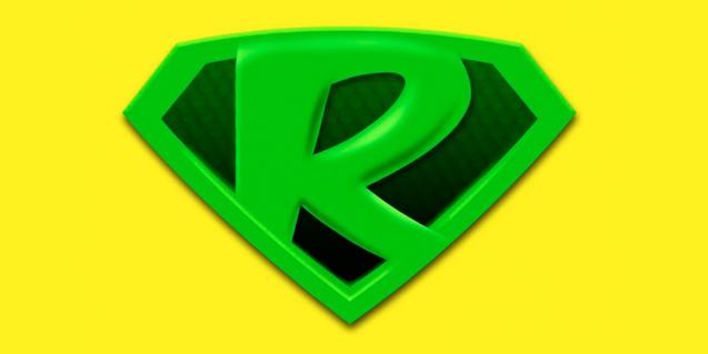 Escudo del superhéroe Super R