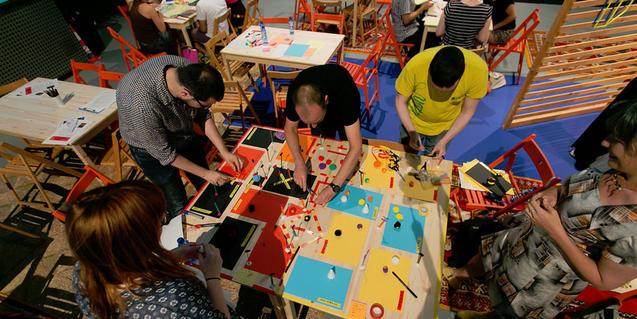 Imatge d'un taller a l'Estació Ciutat
