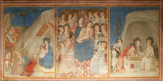 Las pinturas de la capilla de San Miguel son el eje del taller que se hará en el monasterio de Pedralbes este agosto