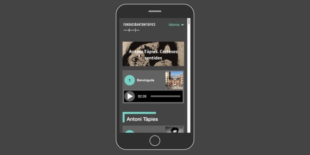 Les audioguies de la Fundació Antoni Tàpies us permeten navegar per les exposicions en curs