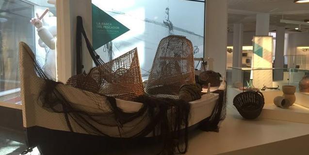 Barca de pescadores expuesta en el museo