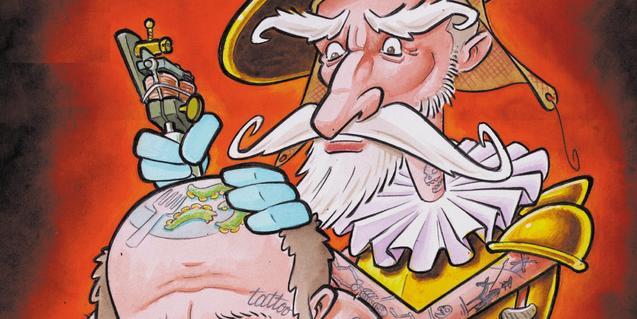Una imagen del cartel de la feria de tatuajes de este año