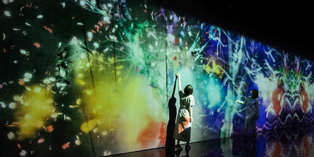 'teamLab. Arte, tecnología y naturaleza' en el CaixaForum